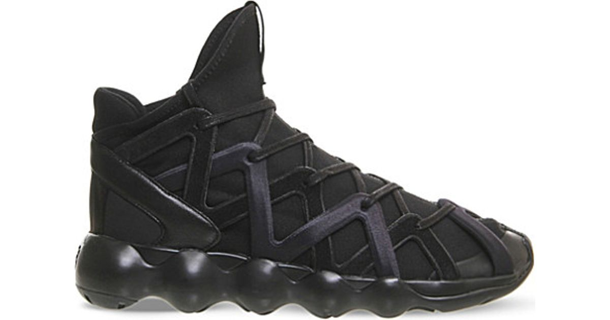 online store 3ab5e 6e8c6 Lyst - Y-3 Kyujo High-top Neoprene Trainers in Black for Men