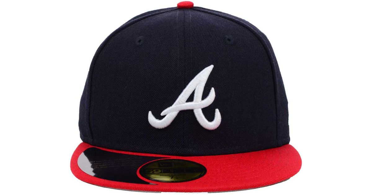 1bc60f80df6 Lyst - KTZ Atlanta Braves Mlb High Crown Legacy Collection 59fifty Cap in  Red for Men