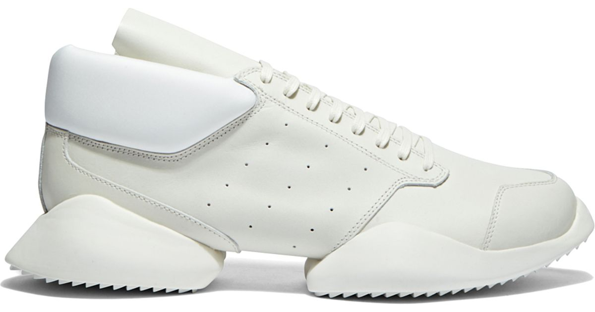 6e131431c Rick Owens White X Adidas 'ro Runner' Leather Sneakers