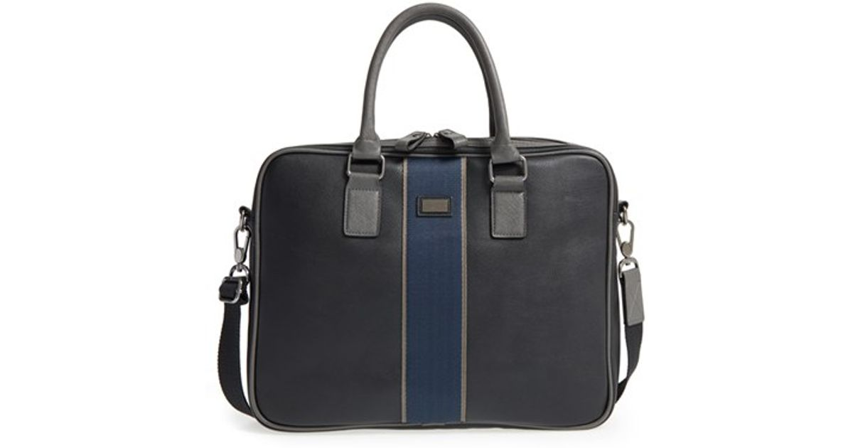 Ted baker 39dentown39 faux leather document bag in black for for Ted baker london leather document bag