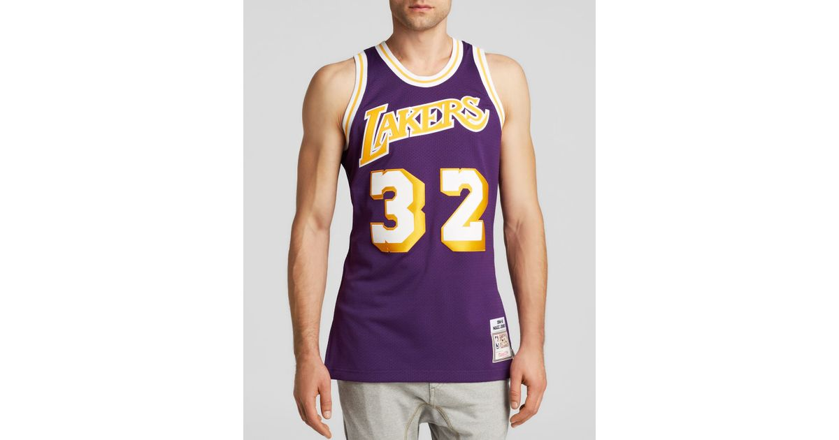 adba95e77 coupon for magic johnson los angeles lakers mitchell ness authentic  shooting t shirt gold 45e80 195fd