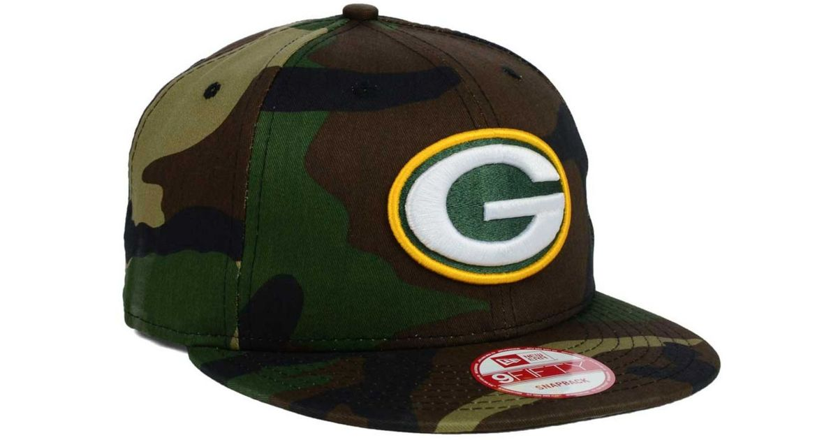 73044bd044c ... czech lyst ktz green bay packers woodland camo team color 9fifty  snapback cap in green for switzerland mens green bay packers new era ...