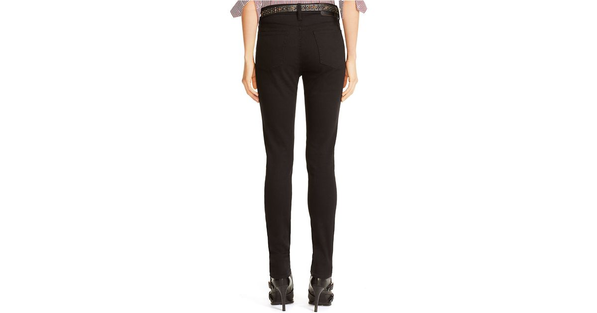 Polo High Lauren Skinny Ralph Jeans Rise Lyst Tompkins Black sxQBhdoCrt