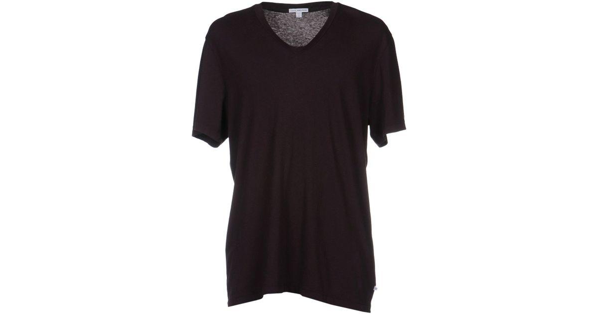 James perse t shirt in brown for men dark brown lyst for James perse t shirts sale