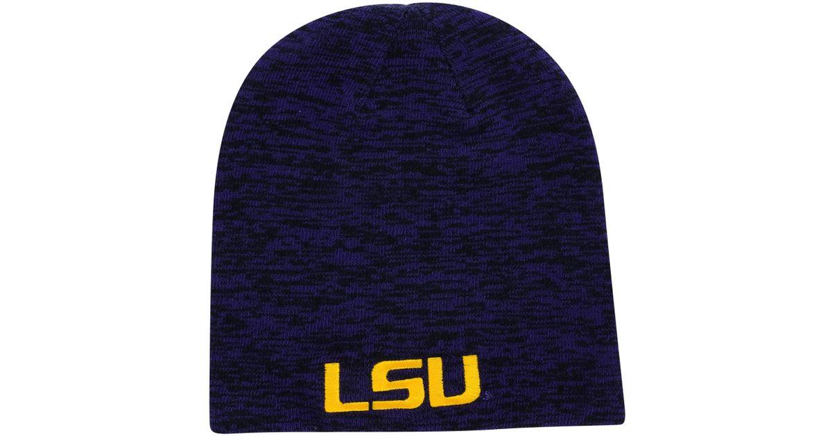 89e91fadd98 Lyst - Nike Lsu Tigers Reversible Beanie Knit Hat in Purple for Men