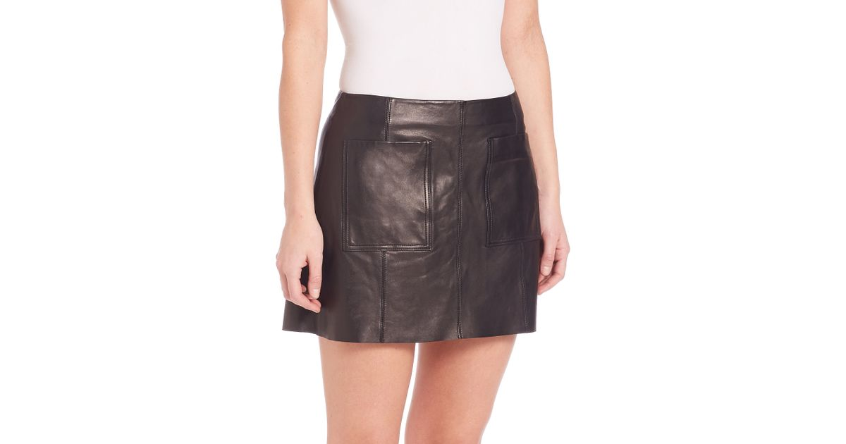 joie nephrite leather skirt in purple lyst