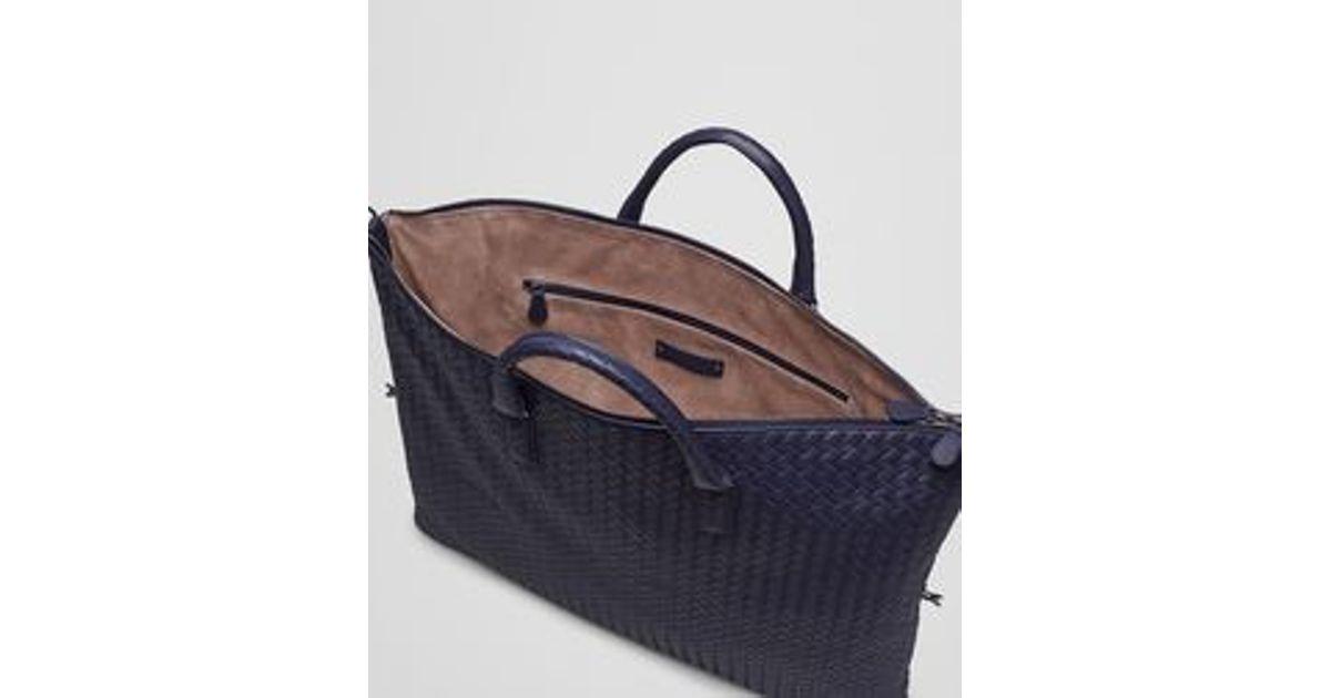 82c78c183b Lyst - Bottega Veneta Maxi Convertible Bag In Atlantic Intrecciato Nappa in  Blue