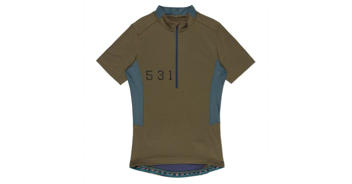 32e604442 Paul Smith Men s 531 Khaki Merino-blend Mesh Cycling Jersey in Natural for  Men - Lyst