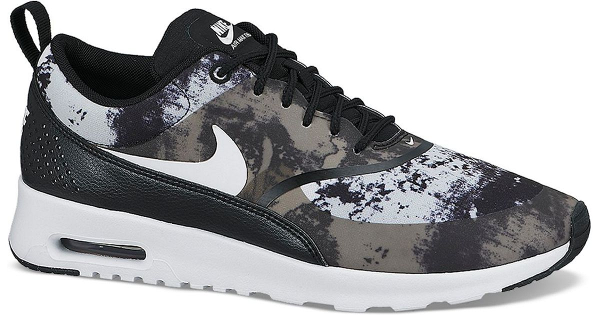 Nike Black Lace Up Sneaker Women'S Air Max Thea Print