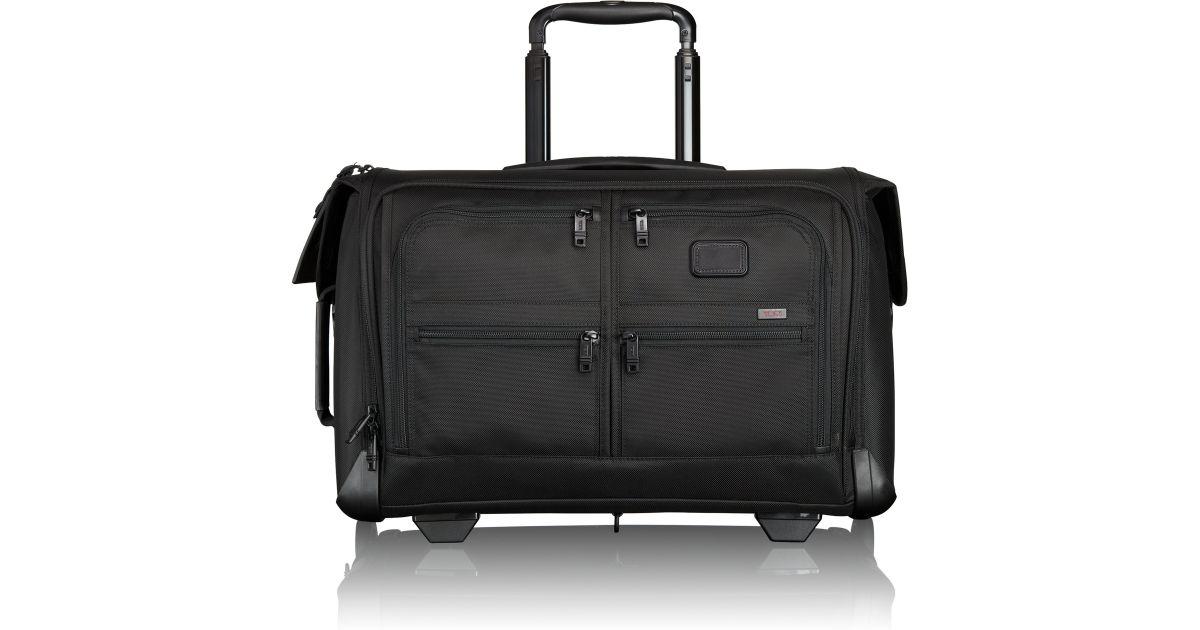 Tumi Black Alpha 2 Wheeled Carry On Garment Bag For Men