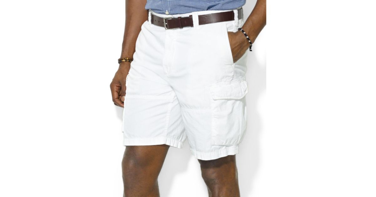 e0a2ee242a107 low price lyst ralph lauren polo big and tall corporal cargo shorts in  white for men