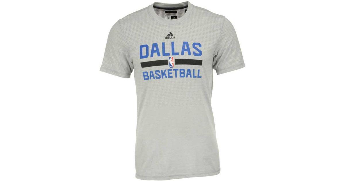 newest 1deb2 b36f1 Lyst - adidas Originals Men s Dallas Mavericks On Court Graphic Aeroknit T- shirt in Gray for Men