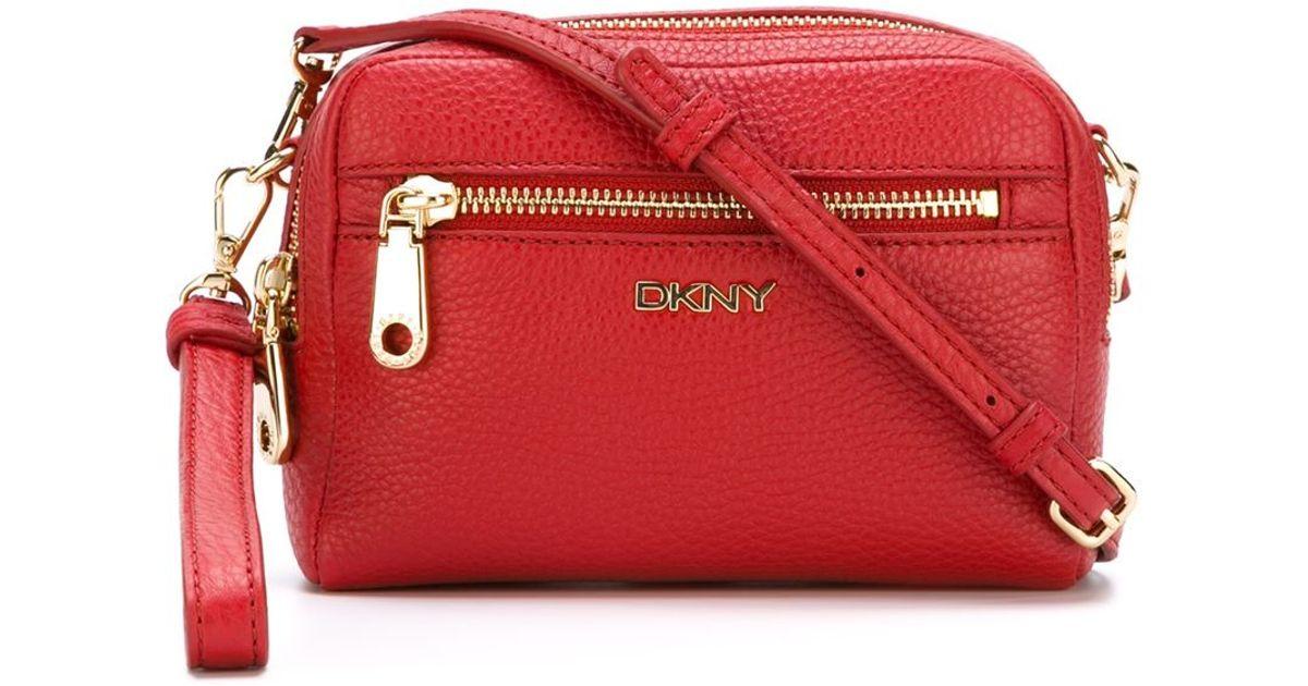 a9af5b919b Lyst - DKNY Small Zip Crossbody Bag in Red