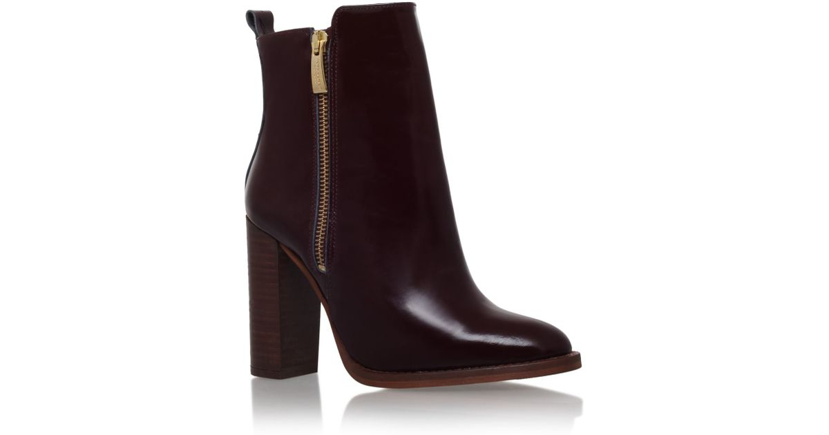 kurt geiger denning high heel ankle boots in lyst