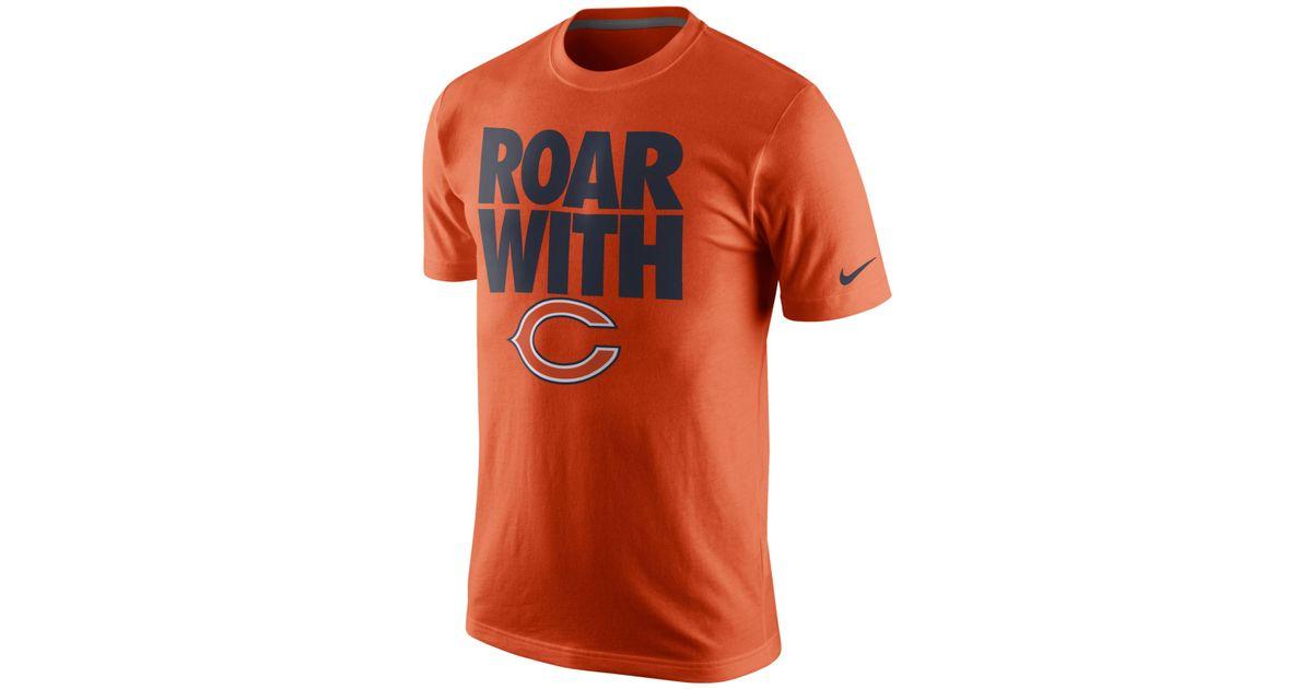 Nike Men 39 S Chicago Bears Team Spirit T Shirt In Orange For