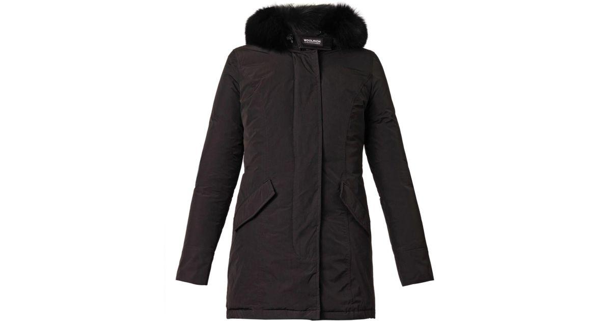 183eee0d4c1 Woolrich Black Luxury Arctic Fox-Fur Down Parka