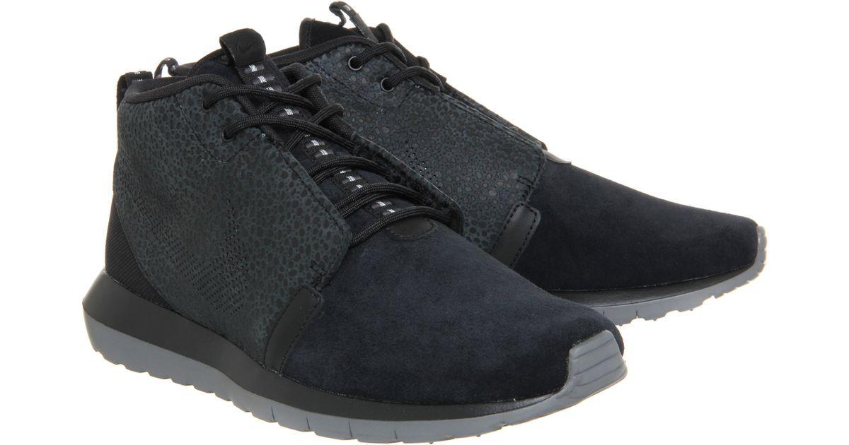 new styles 2a247 4f456 Lyst - Nike Roshe Run Nm Sneaker Boot in Black for Men