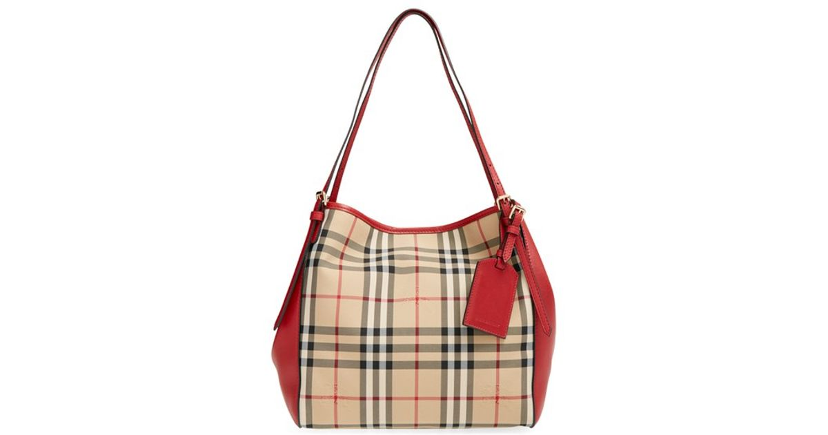 29dbc559f5d0 Lyst - Burberry  horseferry Check - Small Canterbury  Tote in Brown