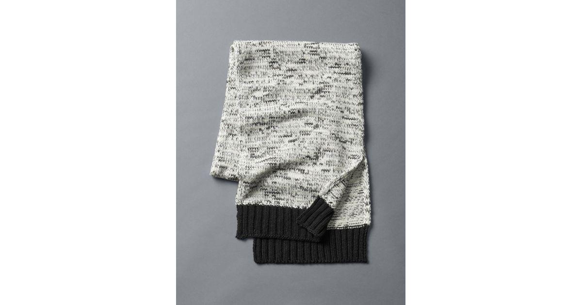 9bc5cac063b Gap - Natural Marled Wool Scarf - Lyst