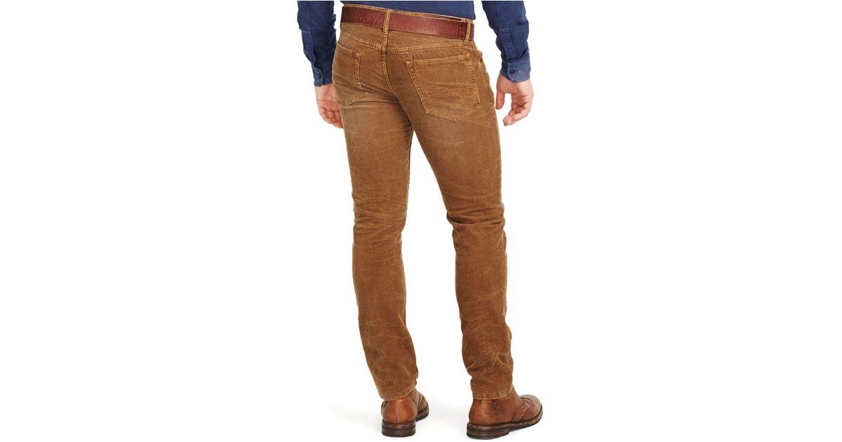 POLO RALPH LAUREN Varick Slim Straight Corduroy Pants Nature