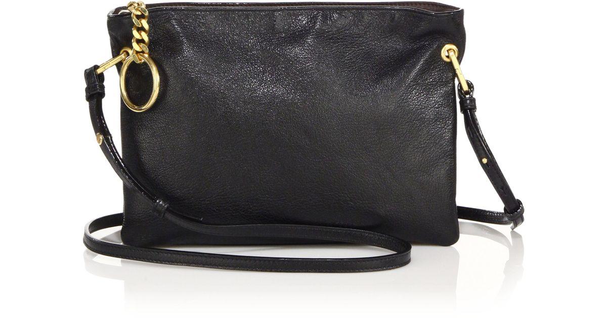 Jimmy choo Mardy Soft Leather Crossbody Bag in Black | Lyst