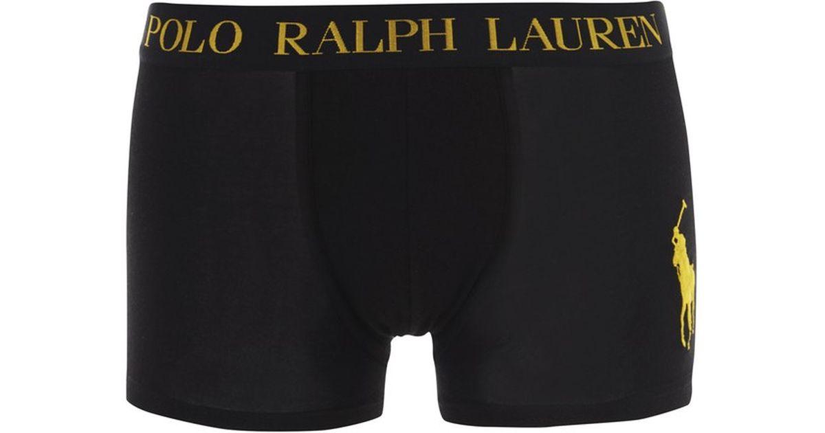78528ab13816 Polo Ralph Lauren Men's Classic Trunk Boxers in Black for Men - Lyst
