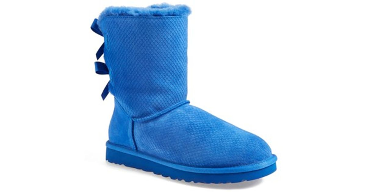7848248941f UGG Blue 'bailey Bow - Exotic Scales' Boot