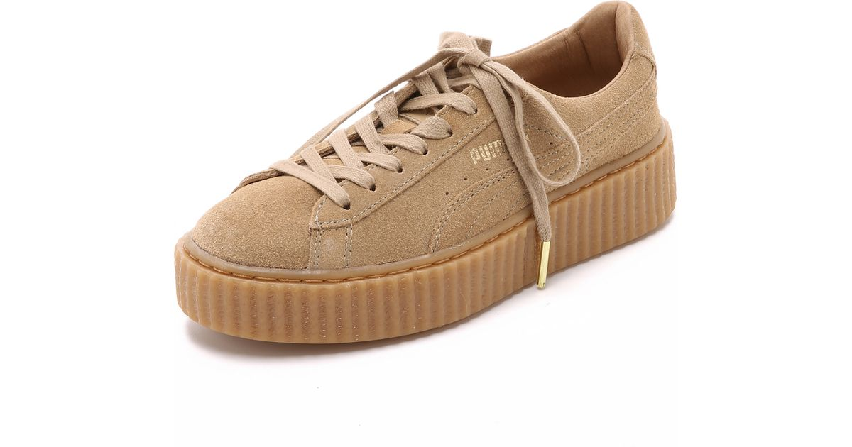 separation shoes 3f12a 8c757 PUMA X Rihanna Creeper Sneakers - Brown