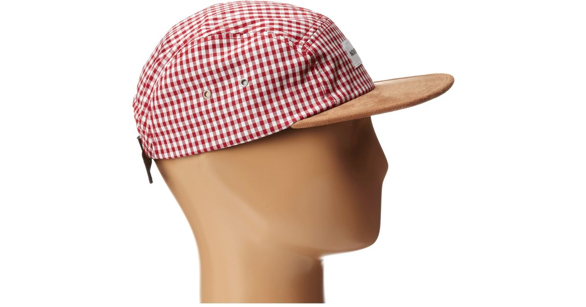1ccad5e19ab Lyst - Nixon Tide 5 Panel Hat in Red