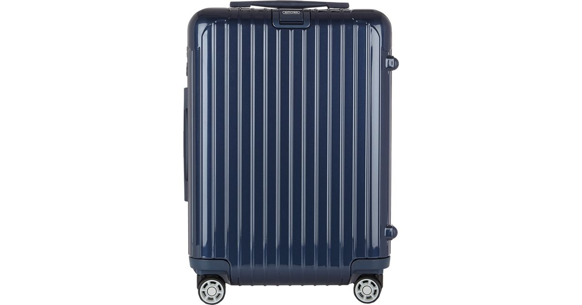 rimowa salsa deluxe 22 cabin multiwheel iata suitcase in blue for men lyst. Black Bedroom Furniture Sets. Home Design Ideas