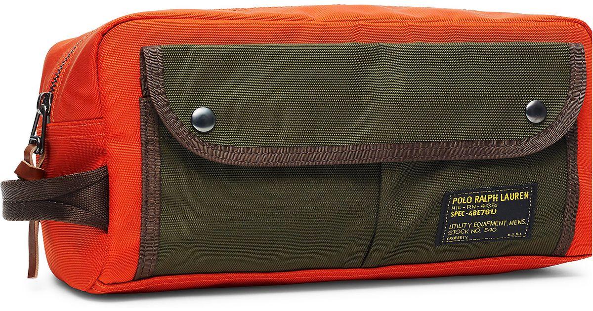 6eaf5938b9 Lyst - Polo Ralph Lauren Nylon Shaving Kit in Orange for Men