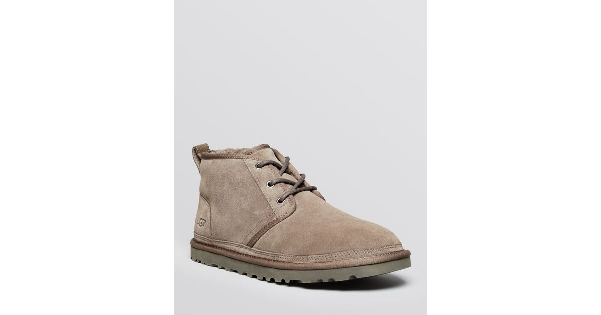 e51c8ee0668 UGG Gray Neumel Suede Chukka Boots for men