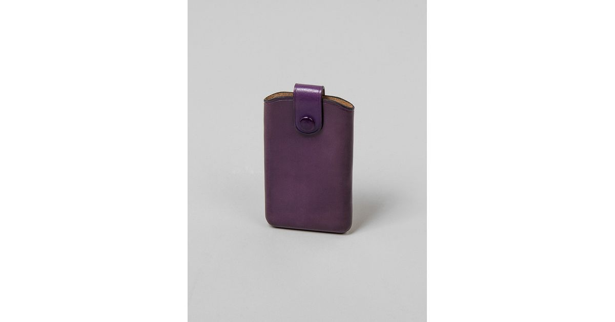 Lyst - Il Bussetto Business Card Holder With Sliding Flap Purple in ...