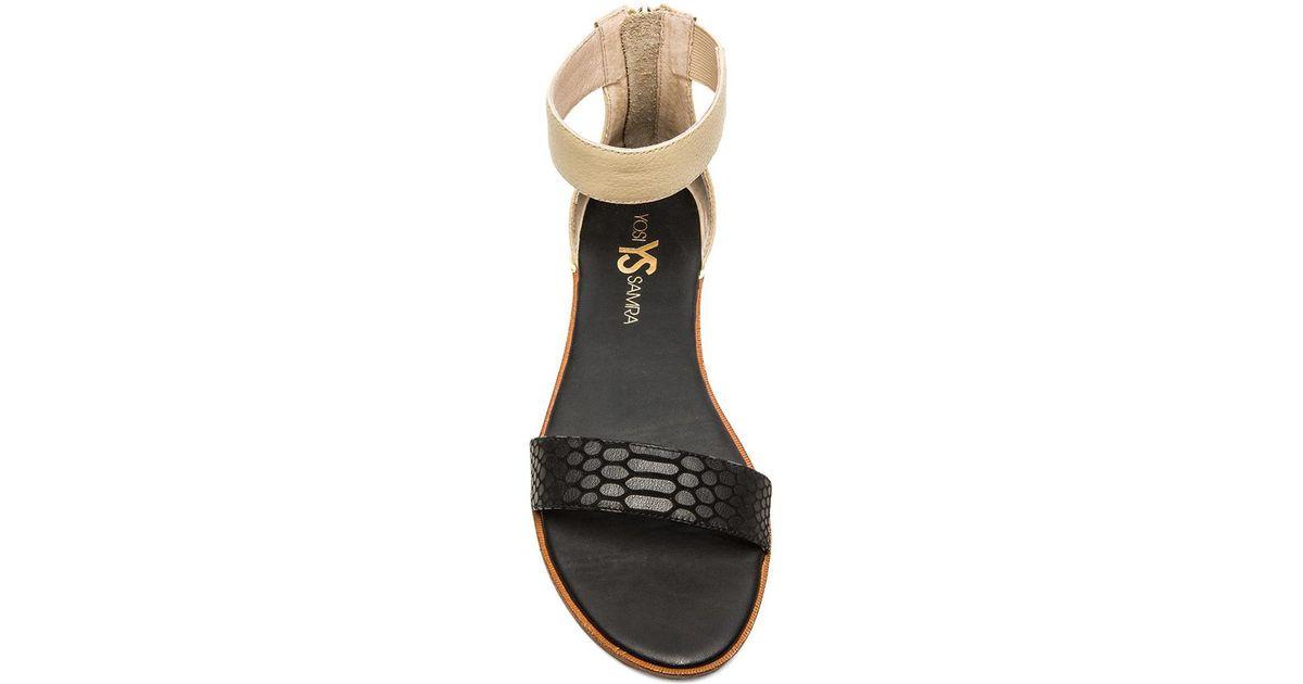 c915e1a5083d9 Yosi Samra Black Cambelle 3D Leather Sandals