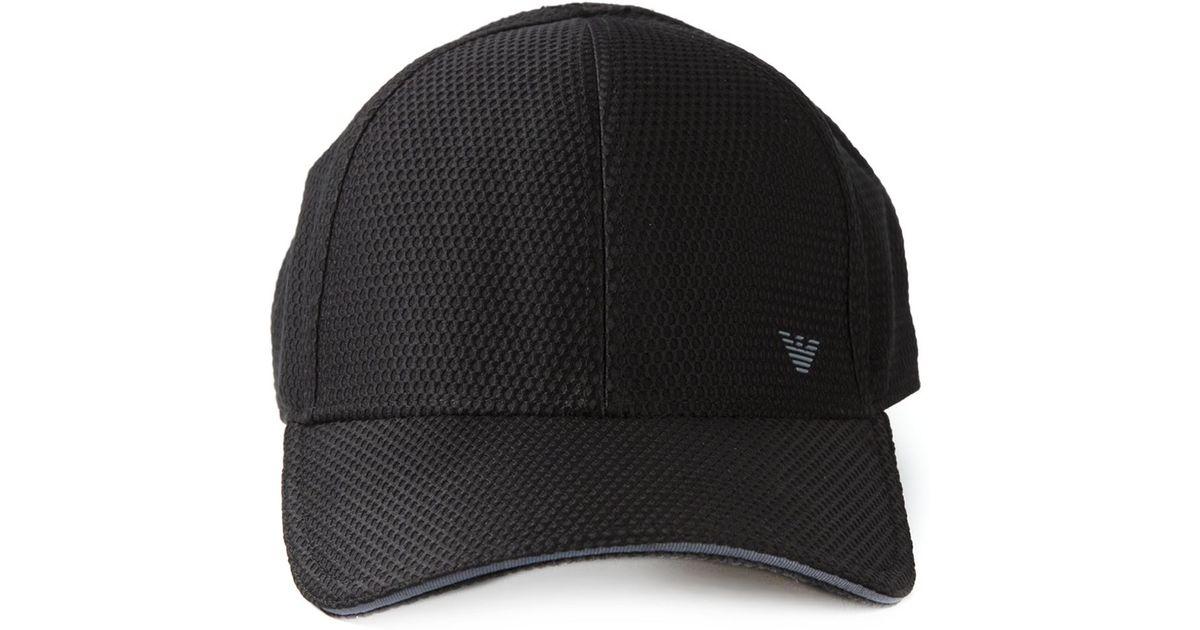 Emporio Armani Mesh Cap in Black for Men - Lyst 6878e744118