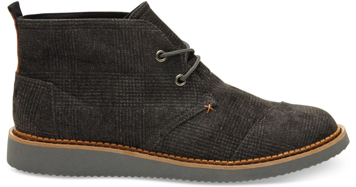 ec46ce0a55a Lyst - TOMS Castlerock Grey Plaid Men s Mateo Chukka Boots in Gray for Men