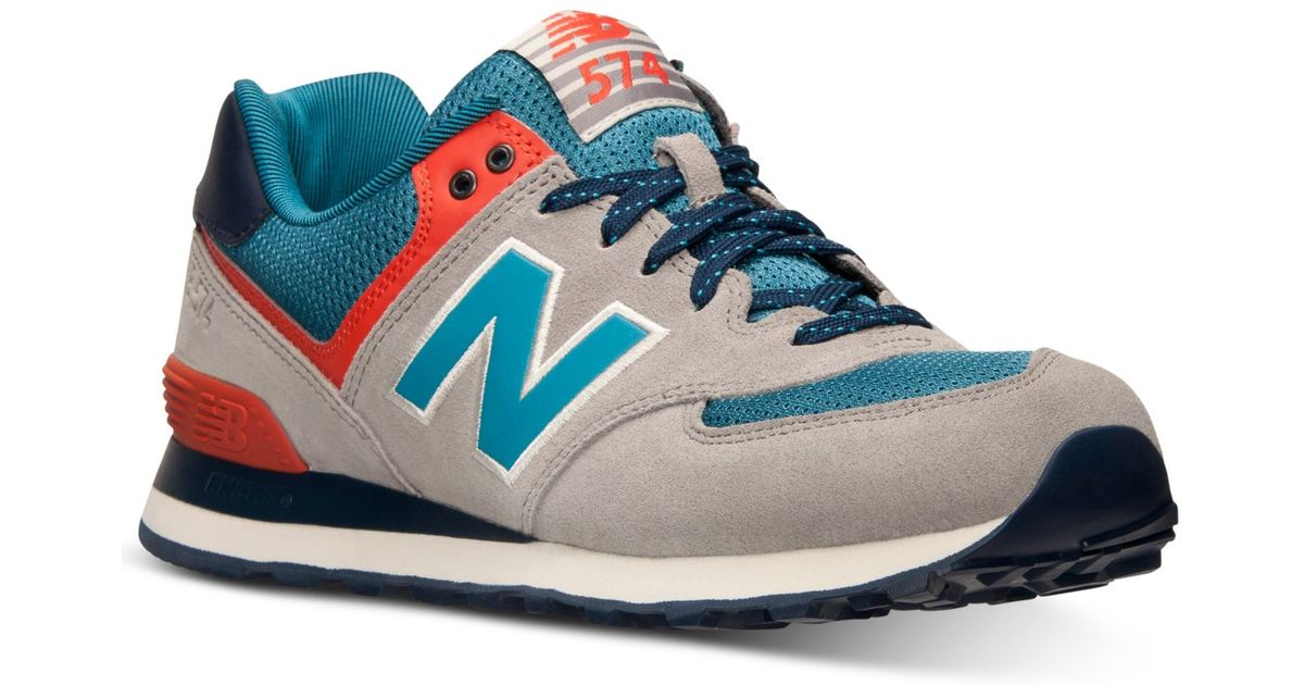 new concept ebe95 aa2d1 New Balance Gray Men's 574 Out East Casual Sneakers From Finish Line for men