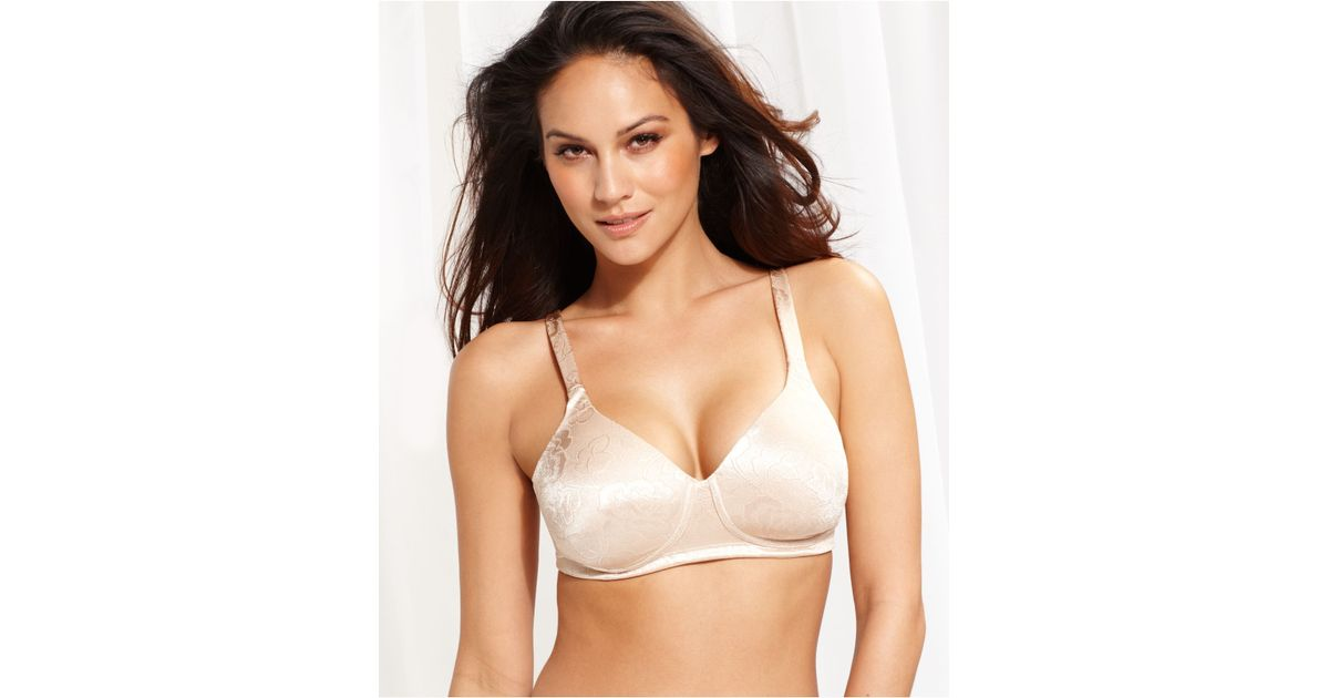 707404fd790f5 Lyst - Vanity Fair Body Shine Floral Full Coverage Wireless Bra 72297 in  Natural
