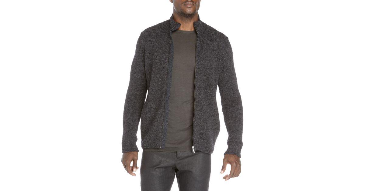 Transit uomo Full-Zip Wool Cardigan in Gray for Men   Lyst
