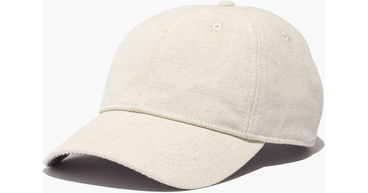 Lyst - Madewell Linen-cotton Baseball Cap in Green f59b7286553