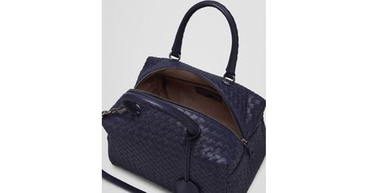 09d67ff7d1 Bottega Veneta Top Handle Bag In Atlantic Intrecciato Nappa in Blue - Lyst