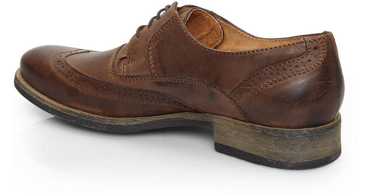 34240b350b9 Steve Madden Chapman Brown Leather Oxfords for men
