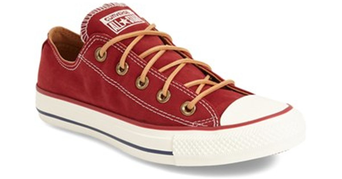 Lyst - Converse Chuck Taylor All Star  peached - Ox  Low Top Sneaker in Red bea1faf2b