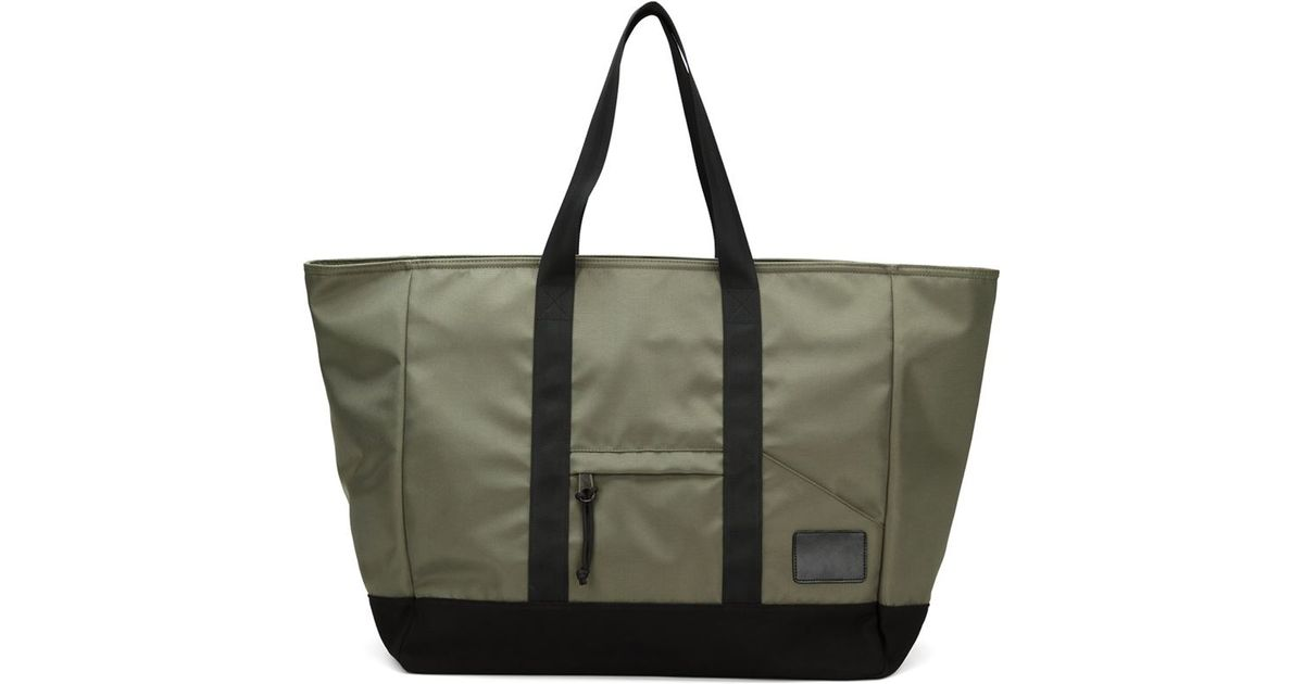 321 large utility tote in black green lyst
