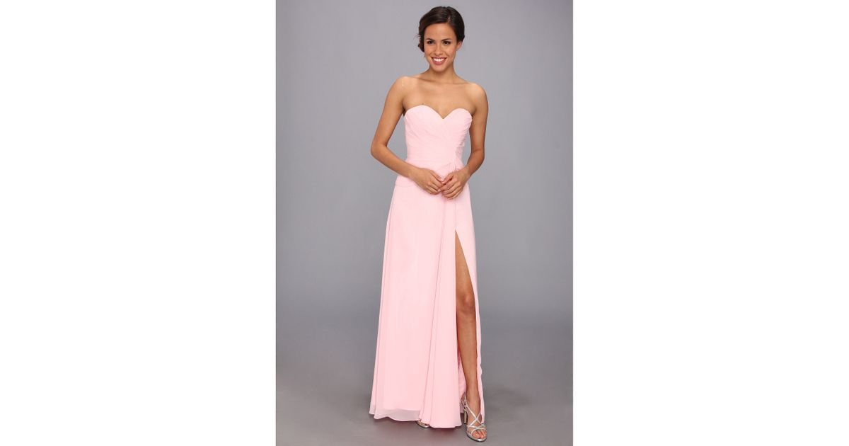 Lyst - Faviana Strapless Sweetheart Dress 6428 in Pink