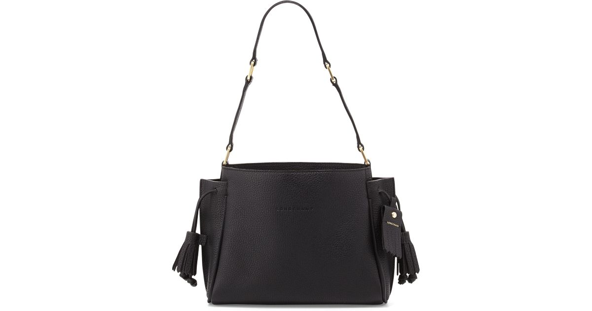 4cbf326cfdec Lyst - Longchamp Penelope Small Shoulder Bag in Black