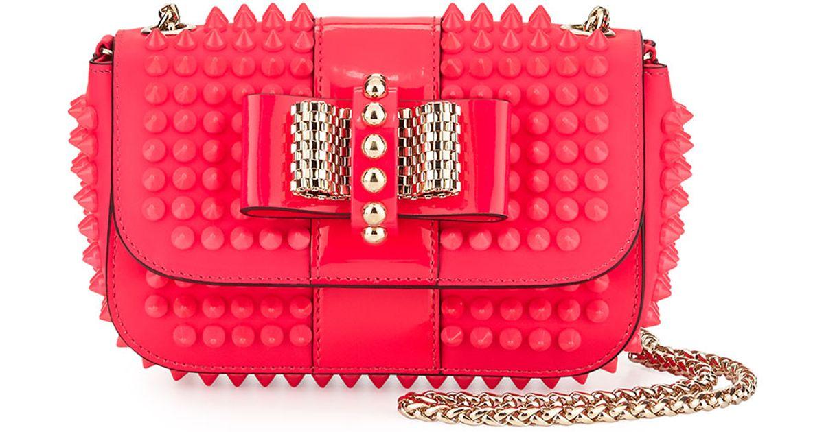 7bb193fb1ad Christian Louboutin Pink Sweet Charity Small Cross-Body Bag