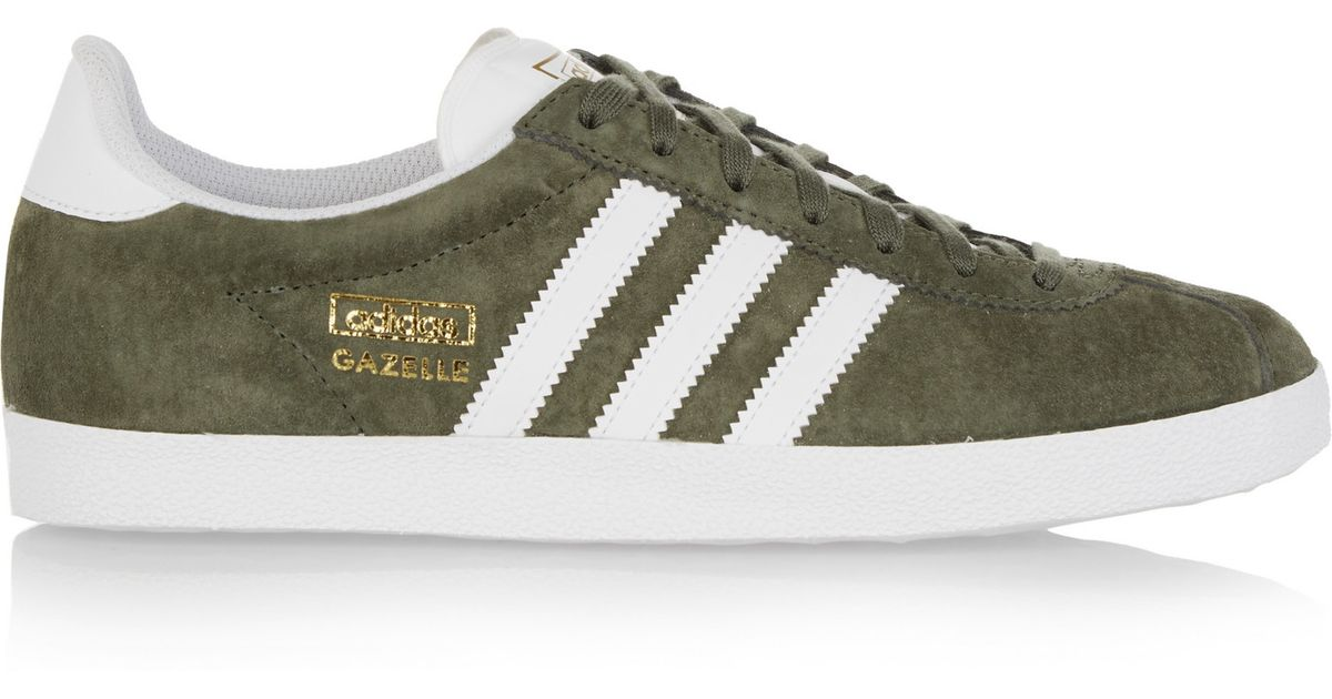 adidas Originals Green Suede Gazelle OG Sneakers   FASHION