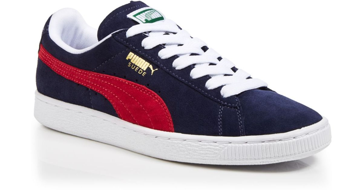 finest selection 1fbff f6480 PUMA Blue Lace Up Sneakers - Suede Classic