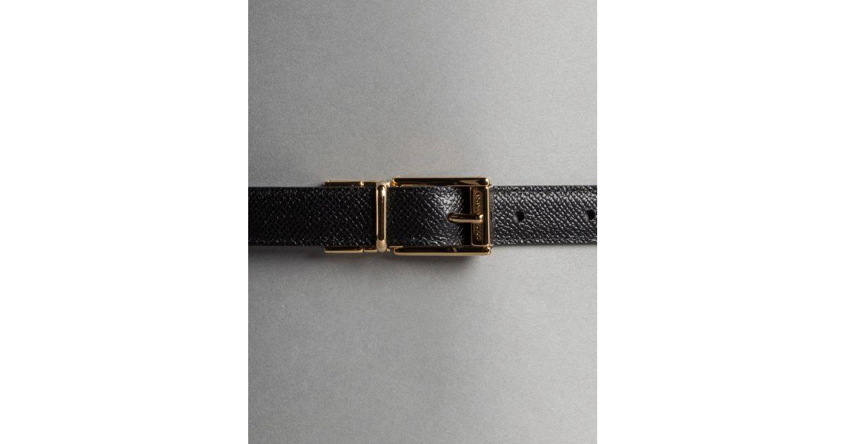 65c0b0d354 order lyst dolce gabbana flower print dauphine calfskin belt in black e87f4  63615